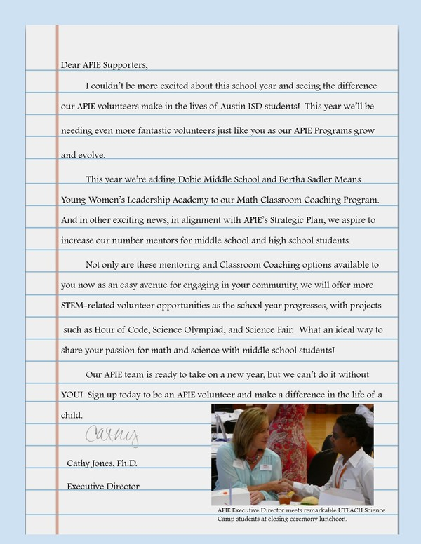 Cathy Letter August Newsletter AP 7